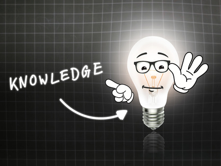 hint: Knowedge Bulb Lamp Energy Light blackboard Background Idea Stock Photo
