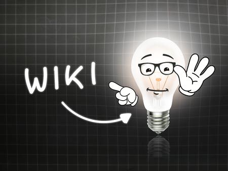 hint: Wiki Bulb Lamp Energy Light blackboard Background Idea