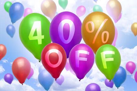 40 % 할인 풍선 할인 다채로운 풍선 파티