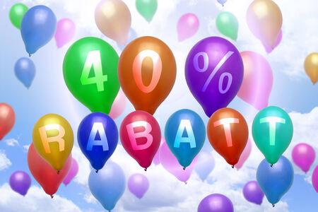 Rabatt 풍선 다채로운 풍선 파티 40 % 할인