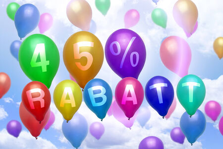 German 45 percent off Rabatt balloon colorful balloons party photo