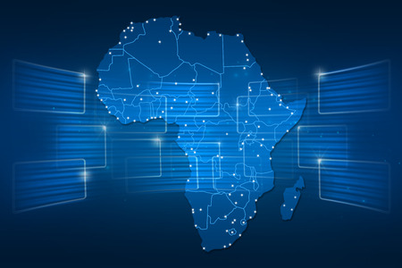 Africa Map World map News Communication delivery blue