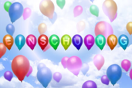 enrollment: German enrollment balloon colorful balloons party