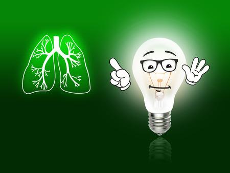 Lungenbiologie Organ Medizin studieren Menschen grün Standard-Bild - 34901032