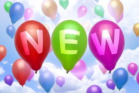 Nieuwe ballon kleurrijke ballonnen feest