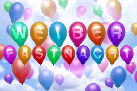 German Weiberfastnacht balloon colorful balloons party