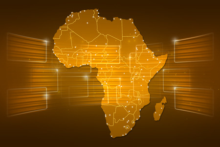 Africa Map World map News Communication delivery gold yellow