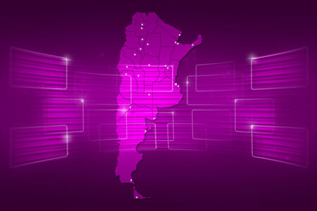 argentina map: argentina Map World map News Communication delivery pink