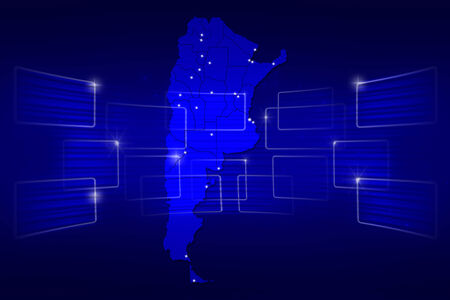 argentina map: argentina Map World map News Communication delivery blue