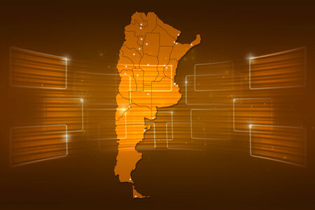 argentina map: argentina Map World map News Communication delivery yellow gold