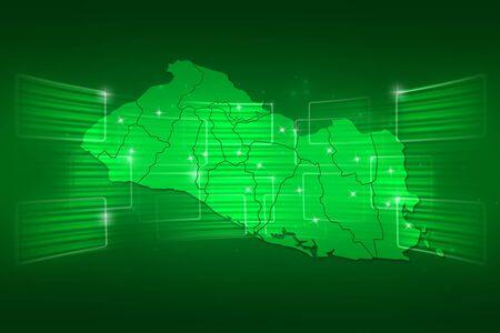 mapa de el salvador: Mapa El Salvador Mapa del Mundo Noticias Comunicaci�n verde entrega Foto de archivo