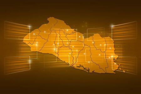 mapa de el salvador: Mapa El Salvador Mapa del Mundo entrega Noticias Comunicaci�n oro amarillo