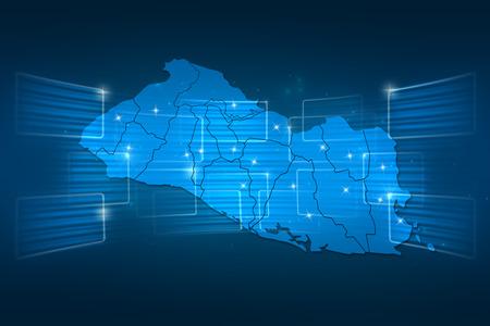 mapa de el salvador: Mapa El Salvador Mapa del mundo azul entrega Noticias Comunicaci�n