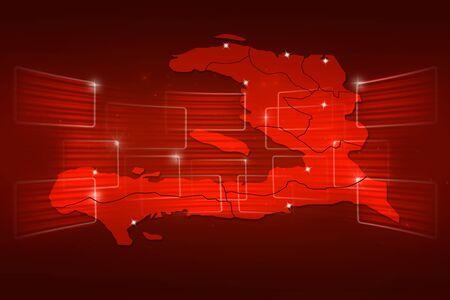 haiti: Haiti Map World map News Communication delivery red