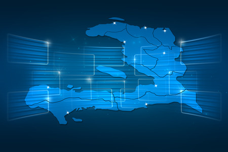 haiti: Haiti Map World map News Communication delivery blue
