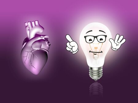 Herzkrankheit: Herzerkrankungen 3D Anatomieabbildung Birne rosa