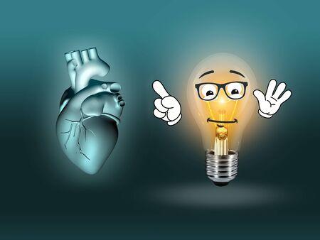 Herzkrankheit: Herzkrankheiten 3D Anatomieabbildung Gl�hbirne t�rkis