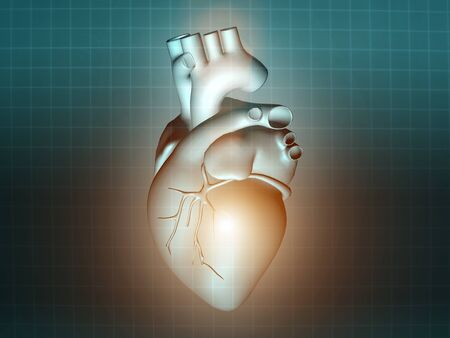 pacemaker: heart disease 3d anatomy illustration health turquoise