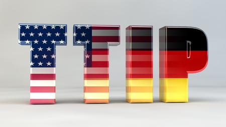 deutschland: TTIP Freihandelsabkommen Politik Deutschland USA Stock Photo