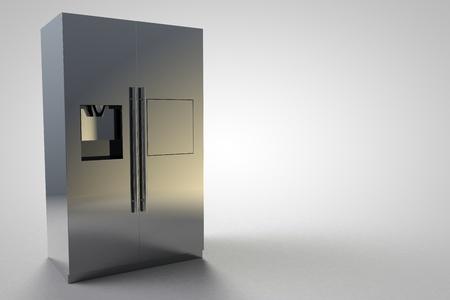 refrigerator kitchen: Refrigerator Kitchen Furniture Design silver modern large 3D