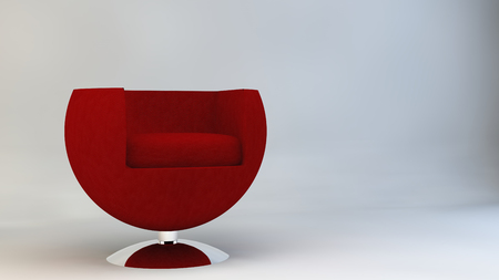 designer chair: Chair armchair furniture design Designer Furniture red Stock Photo
