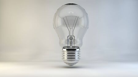 t bulb: Bulb idea lamp light lights incident 3d
