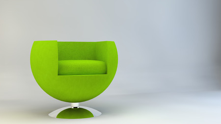 designer chair: Chair armchair furniture design Designer Furniture green Stock Photo