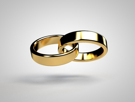 gold ring: Marriage marriage marry ring rings wedding ring wedding rings 3D Stock Photo