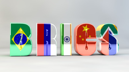 BRICS Brazil Russia India China South Africa 版權商用圖片