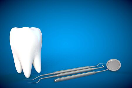 Tand maaltand mondhygiëne tandarts 3D green