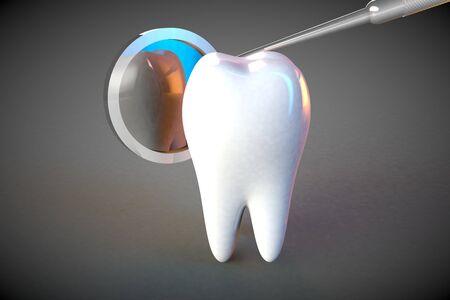 molar: Tooth molar tooth Dental Hygiene Dentist 3D rendering
