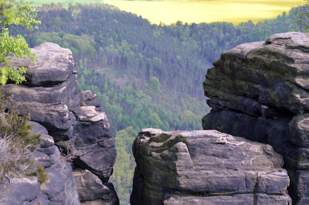 saxon: Lilienstein - Saxon Switzerland, GERMANY rock nature mountain