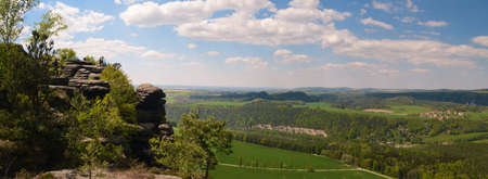 saxon: Lilienstein - Saxon Switzerland, GERMANY panorama view mountains