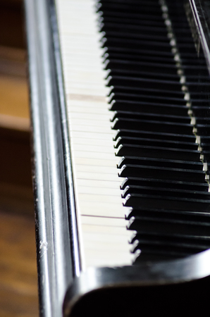 hymnal: Piano keyboard music instrument black concert melody sound Stock Photo