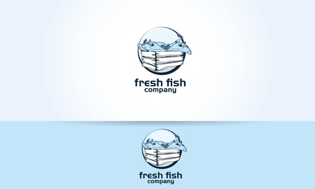 sympathetic: fish fishes box fresh restaurant illustration graphic Illustration
