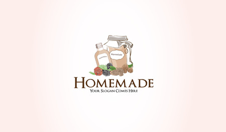 confiture: homemade marmelade fruit jam graphic illustration