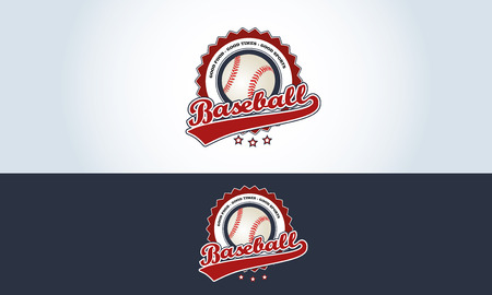 sports bar: Red, white and blue, baseball sports bar illustration