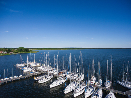 mecklenburg western pomerania: Harbor of Breege on Ruegen Island at Baltic Sea,Mecklenburg western Pomerania,Germany Stock Photo