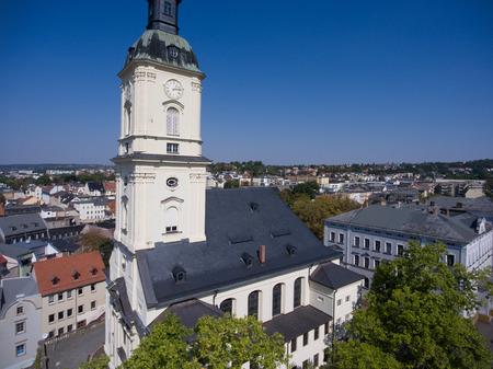 Salvatorkirche Gera church salvator aerial view thuringia