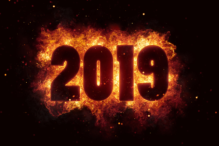 new year 2019 flames fire explosion explode