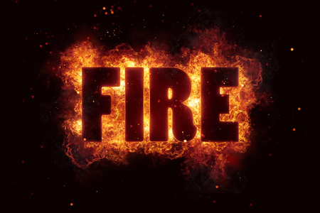 fire text flame flames burn burning hot explosion Reklamní fotografie