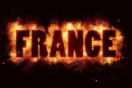 fervent: france fire text flame flames burn burning hot explosion