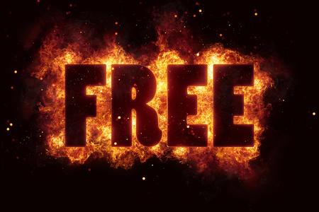 free fire text flame flames burn burning hot explosion Reklamní fotografie