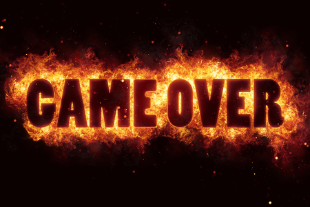 game over fire text flame flames burn burning hot explosion