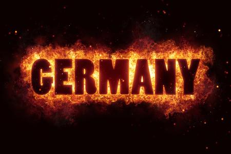 germany fire text flame flames burn burning hot explosion Reklamní fotografie