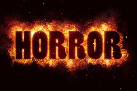 Fire Horror for horror flame holiday design Reklamní fotografie