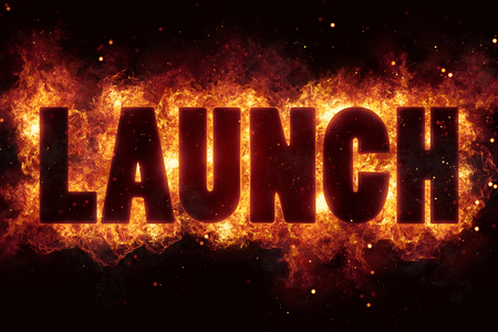Rocket launch fire flame flames burn explode text