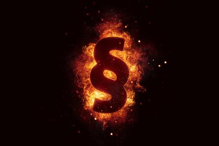 fiery: Fiery burning paragraph sign fire burn explode