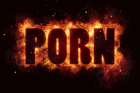 porn sex adult xxx text on fire flames explosion burning Stock fotó