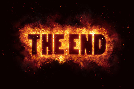 the end film fire burn flame text is explode explosion